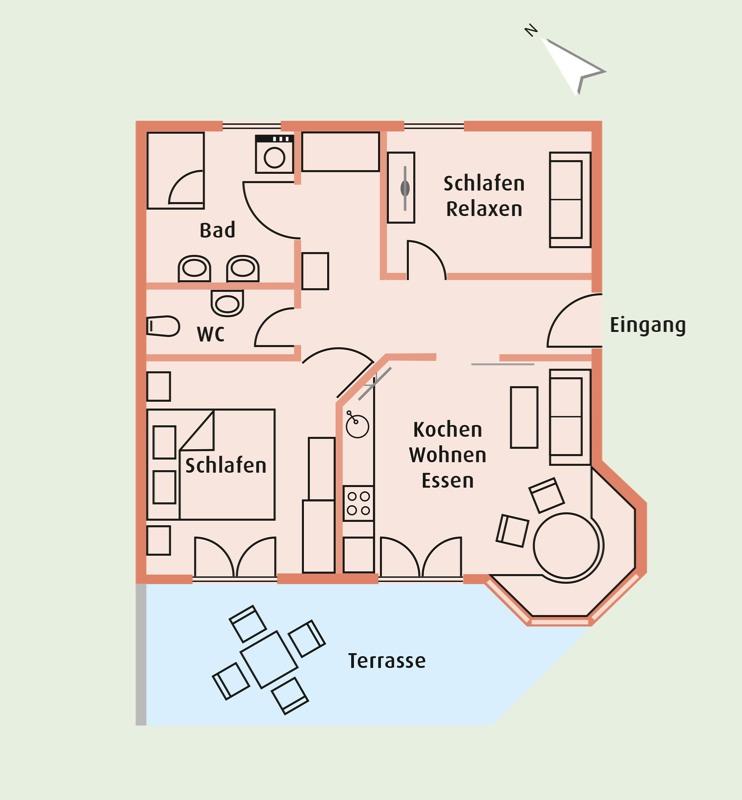 Grundriss der Ferienwohnung Ebhardt